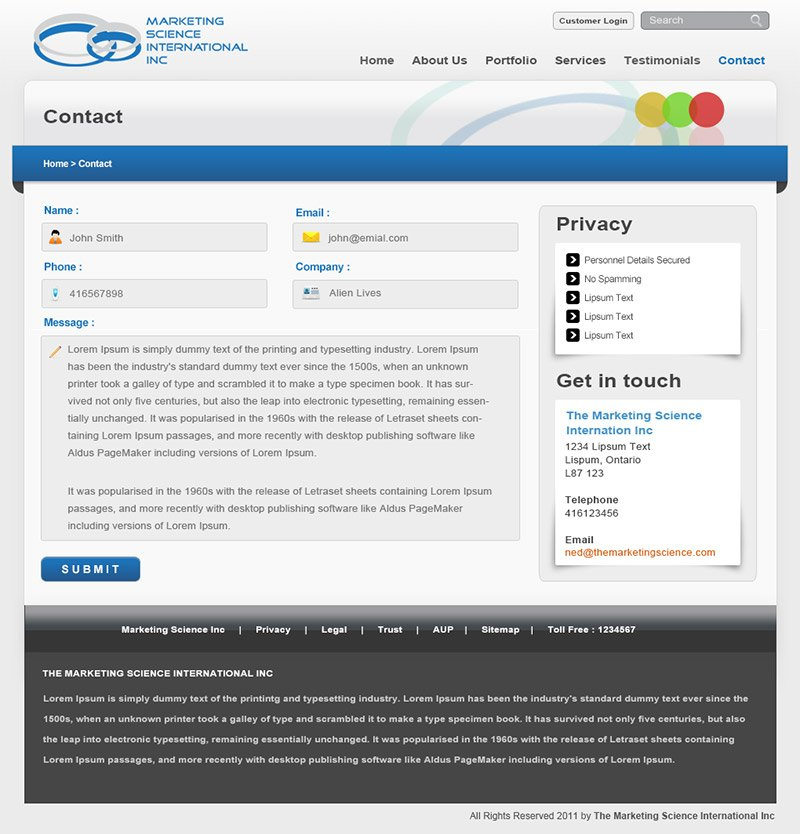 MSII - Contact Page